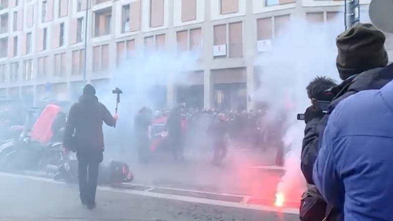 احتجاجات لليمين المتطرف في ميلان وأخرى معارضة في روما