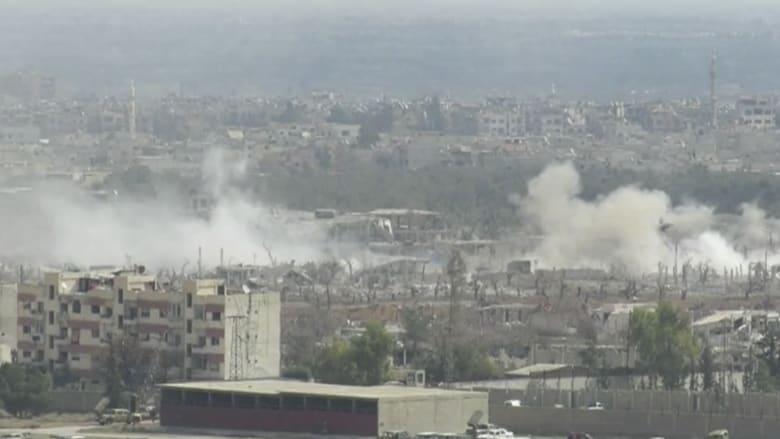 شاهد.. معارك عند أطراف الغوطة الشرقية