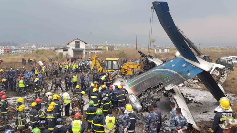 عشرات القتلى بعد تحطم طائرة ركاب في نيبال