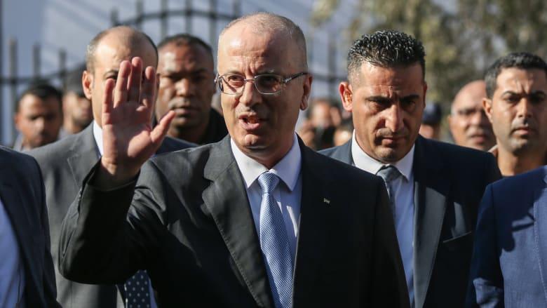 شاهد.. آثار محاولة اغتيال رئيس الوزراء الفلسطيني رامي الحمد الله