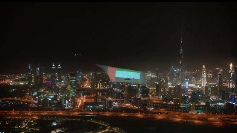 دبي تدخل موسوعة غينيس بأكبر شاشة عرض جوية في العالم