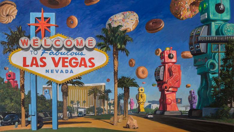 ما علاقة الروبوتات وحلوى الدونات بالفن؟