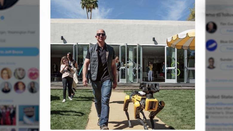 شاهد.. حيوان أليف جديد لرئيس أمازون.. كلب روبوتي!