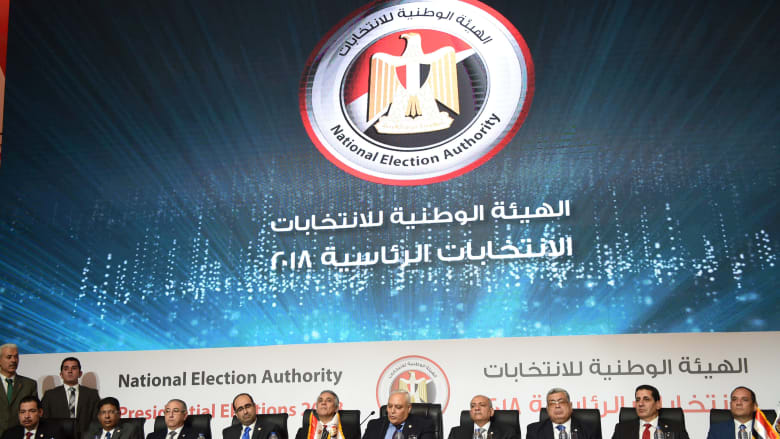 الهيئة الوطنية للانتخابات بمصر تعلن فوز السيسي بنسبة 97.8%