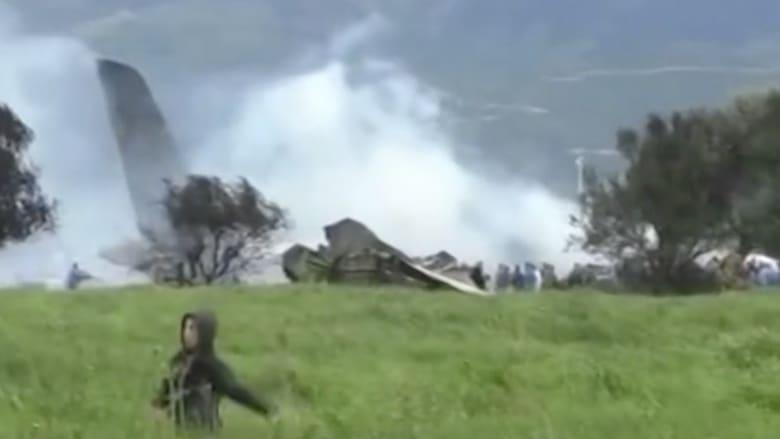 مشاهد من موقع حادث تحطم الطائرة العسكرية الجزائرية