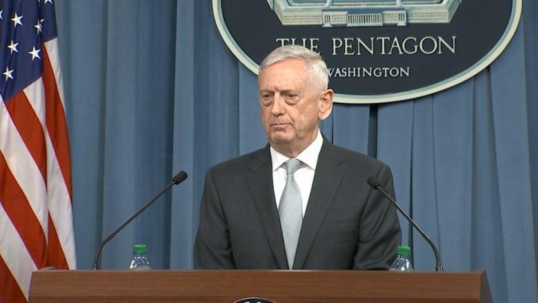 ماتيس: استهدفنا ما سيؤذي الكيماوي السوري بضعف أسلحة العام الماضي
