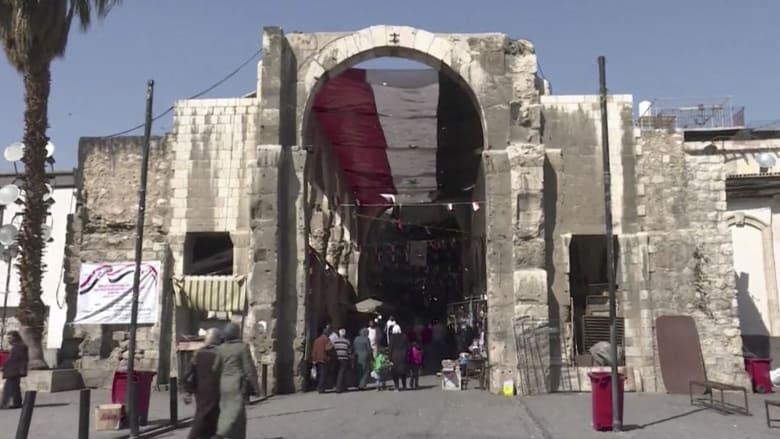 هكذا بدت الحياة في دمشق بعد يوم من الضربة