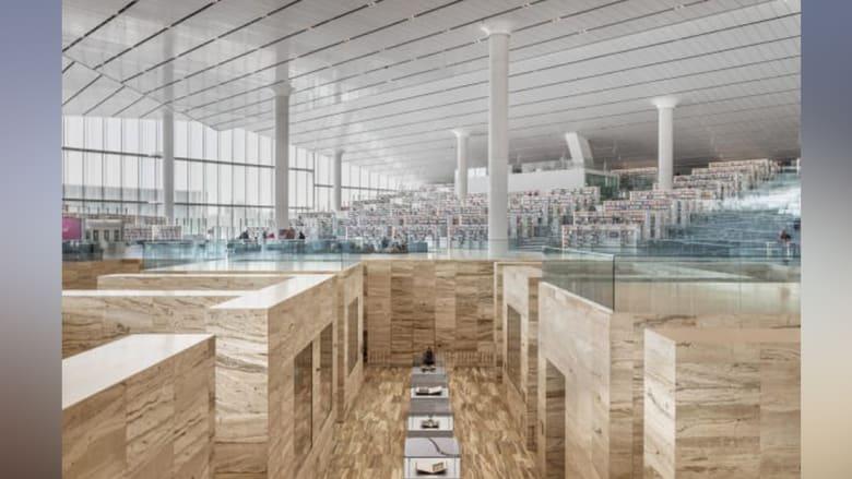 قطر تفتتح إحدى أجمل المكتبات في العالم..بشكل ألماسة