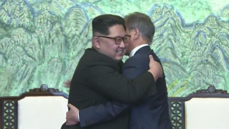 """شاهد.. الكوريتان تتعهدان بالعمل على """"إنهاء الحرب"""" في 2018"""