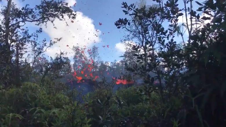 شاهد.. استمرار تدفق الحمم من بركان بولاية هاواى الأمريكية