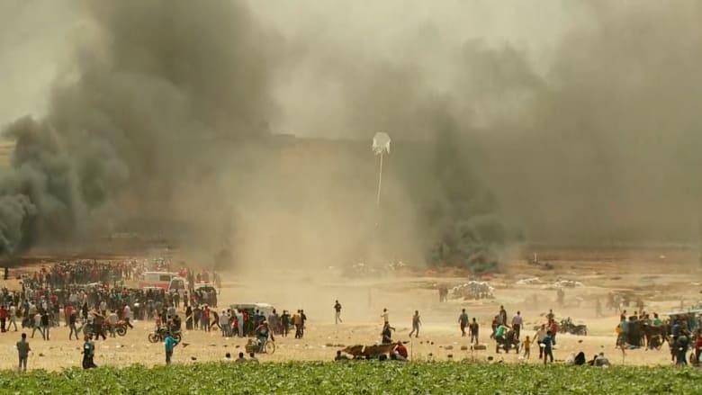 مقتل 43 فلسطينيا وإصابة المئات في مواجهات على حدود غزة مع إسرائيل