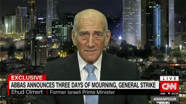 رئيس وزراء إسرائيل الأسبق لـCNN: لا نريد قتل الفلسطينيين