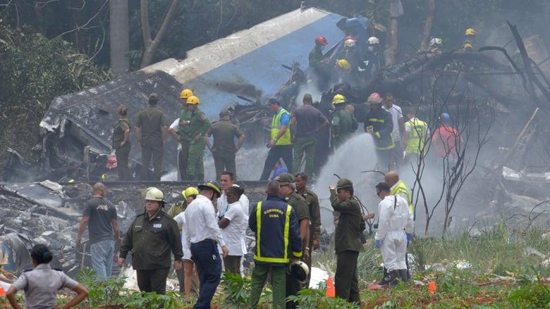 تحطم طائرة ركاب كوبية على متنها 104 أشخاص خلال إقلاعها من هافانا