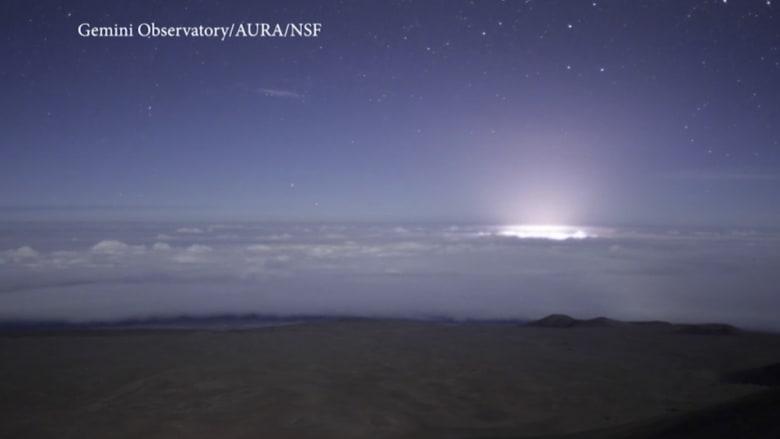 بتقنية الفاصل الزمني.. مرصد فلكي يلتقط ثوران بركان في هاواي