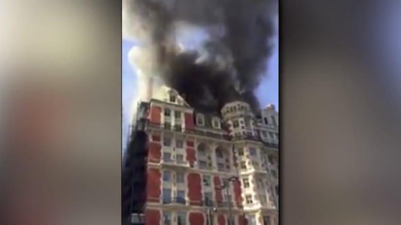 شاهد.. حريق ضخم في لندن يستدعي تدخل ما يقارب الـ120 رجل إطفاء