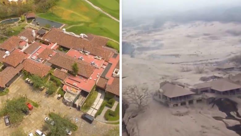 مشاهد مرعبة من بركان غواتيمالا.. قبل وبعد الكارثة
