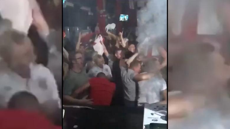 شاهد هستيريا مشجعي إنجلترا بعد تسجيل كين لهدف الفوز على تونس
