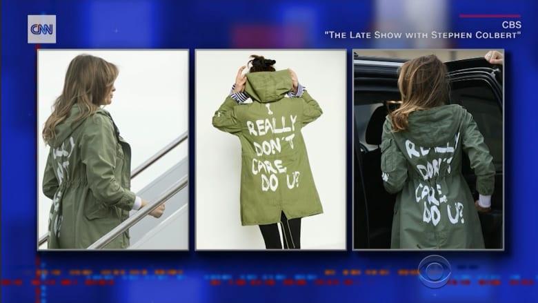 شاهد.. جدل كبير بسبب عبارة على معطف ميلانيا ترامب
