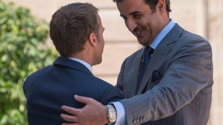 أمير قطر يكشف ما اتفق عليه مع ماكرون خلال زيارة فرنسا