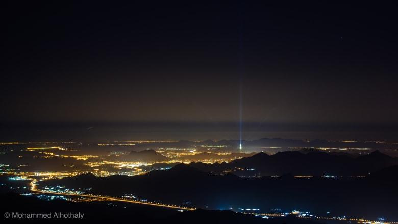 """طريق جبل """"كرا"""" في المملكة العربية السعودية."""