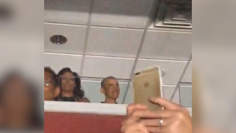 باراك وميشيل أوباما يرقصان في حفل غنائي لبيونسيه وزوجها