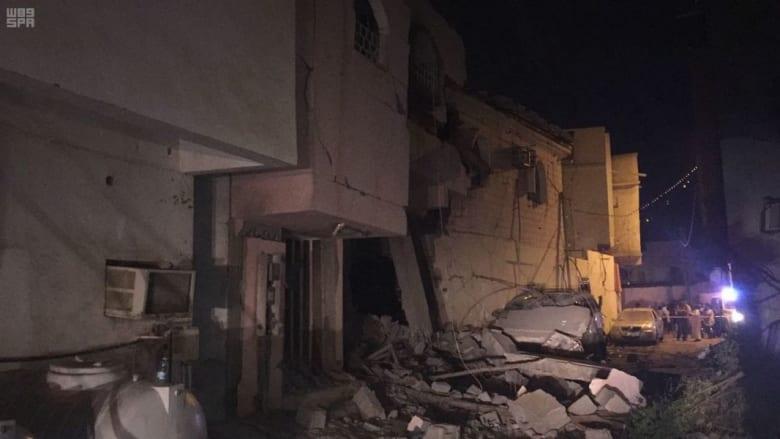 السعودية تنشر صورة لأضرار شظايا صاروخ باليستي أطلقه الحوثي