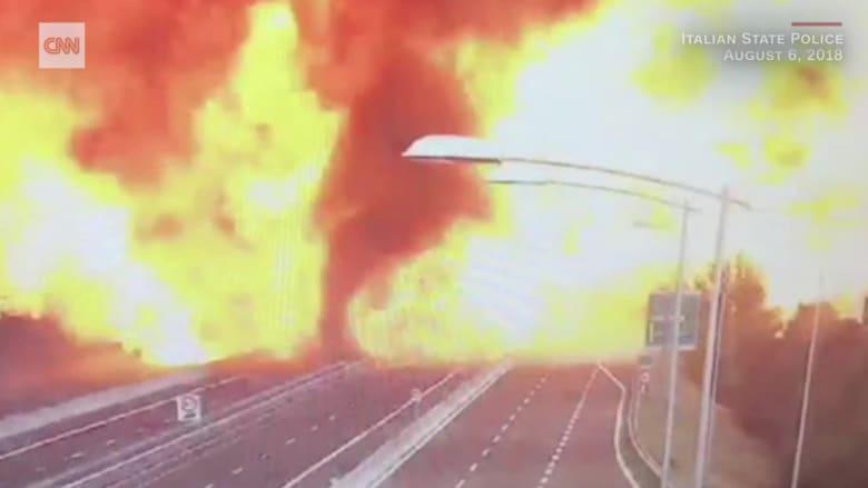 انفجار هائل لناقلة غاز يقتل 3 أشخاص ويصيب 55 في إيطاليا