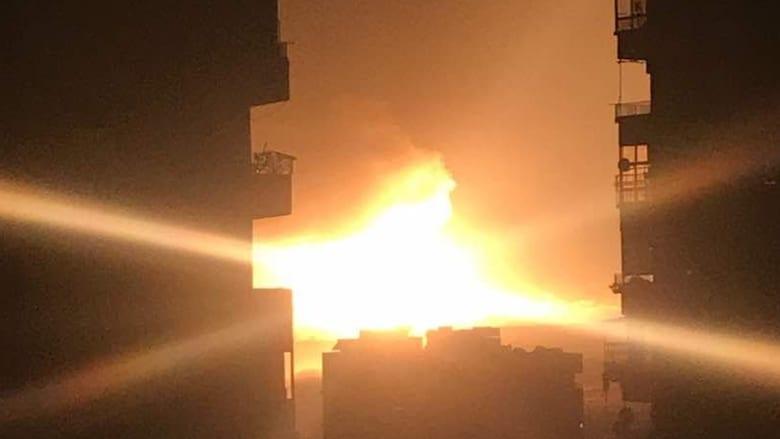 """مقاطع وصور """"تظهر"""" تفجيرات بقاعدة المزة السورية"""