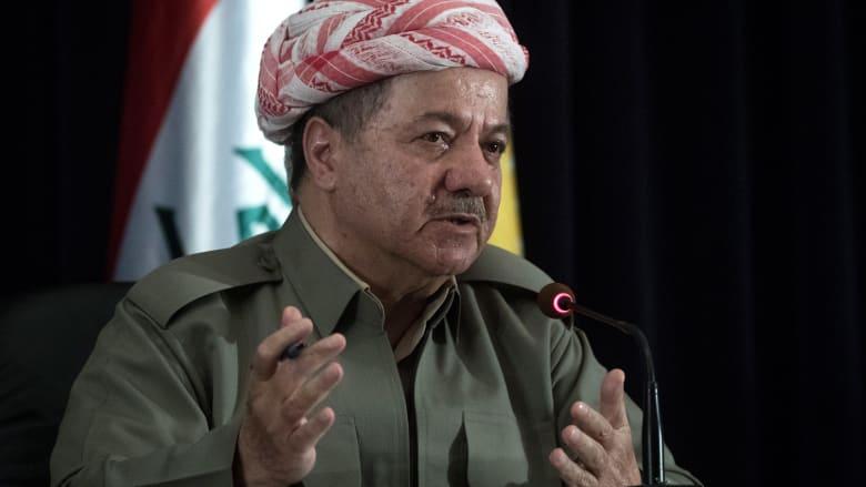 مسعود برزاني يدين قصف إيران لمقر الحزب الديمقراطي الكردستاني الإيراني