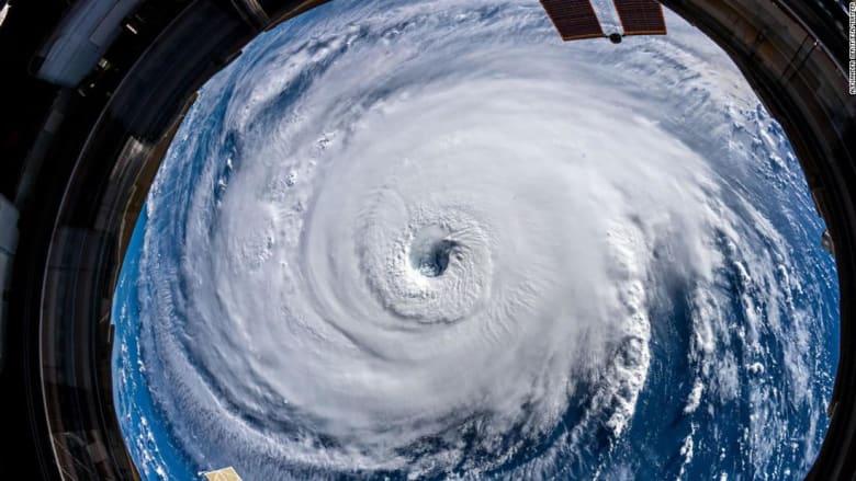 هكذا يبدو إعصار فلورنس المدمر من الفضاء