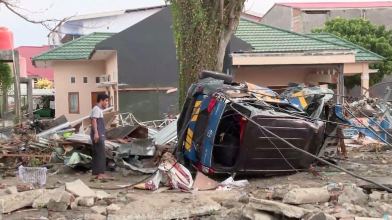 ارتفاع عدد ضحايا زلزال وتسونامي إندونيسيا لأكثر من 1400 شخص