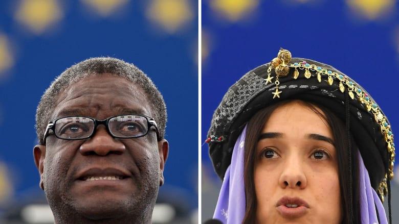 فوز الناشطة الأيزيدية العراقية نادية مراد والطبيب الكونغولي دينيس ماكفيغا بنوبل للسلام