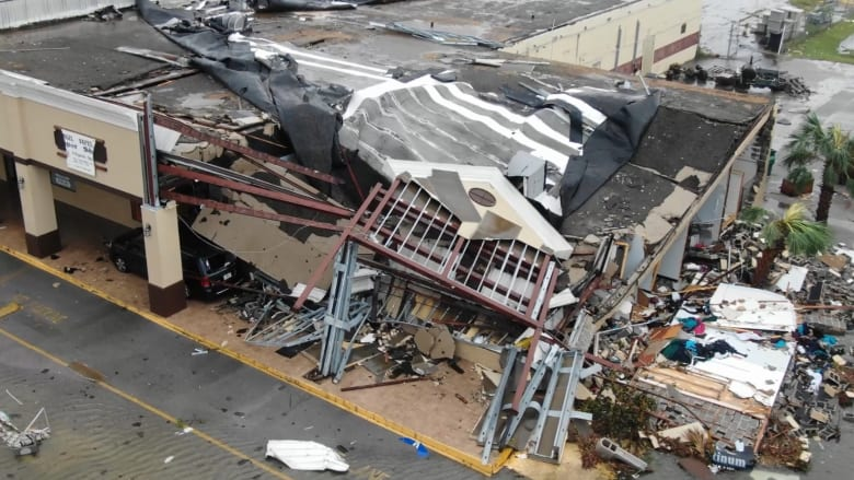 إعصار مايكل.. مسار الدمار قبل وبعد مروره