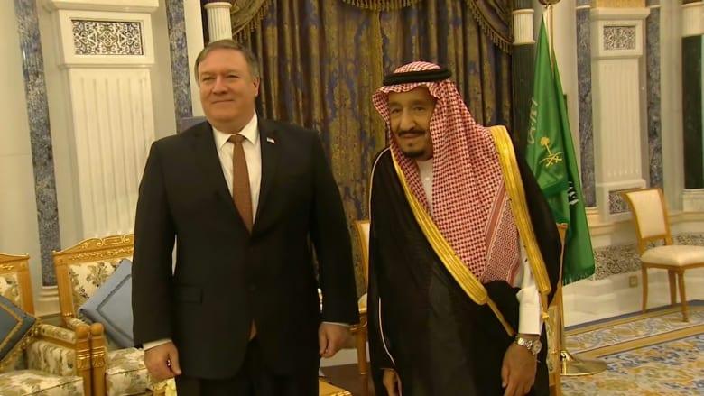 الملك سلمان يلتقي وزير الخارجية الأمريكي في الرياض