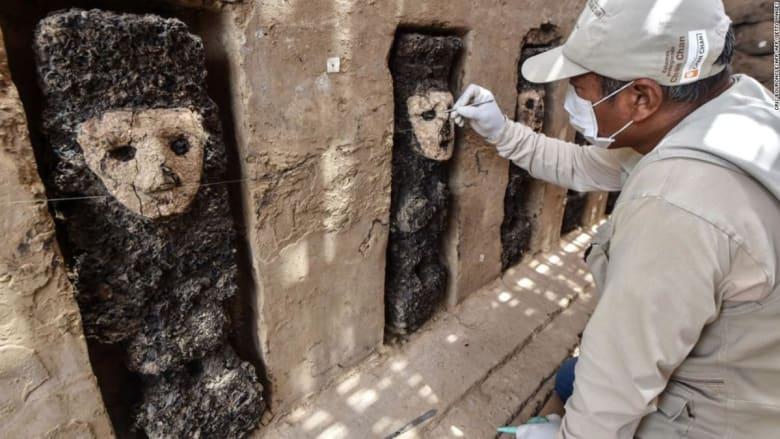 العثور على منحوتات في بيرو عمرها قرون