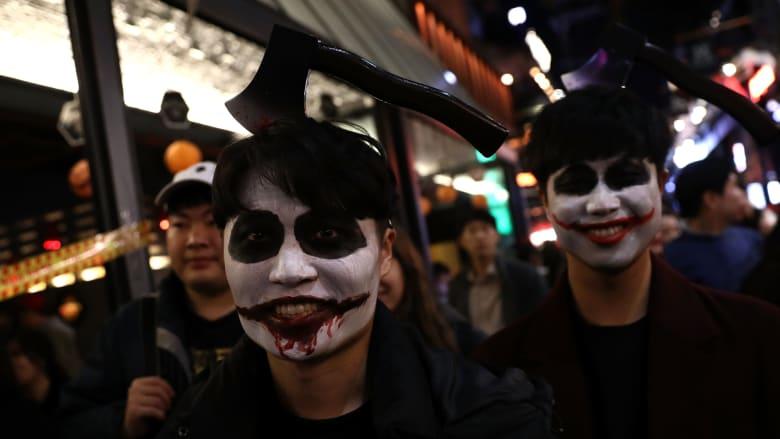 هكذا احتفلت مدينة سيؤول بعيد الهالووين قبل أوانه