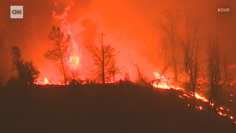حريق كاليفورنيا.. النار تغطي مساحة 80 ملعب كرة قدم في دقيقة