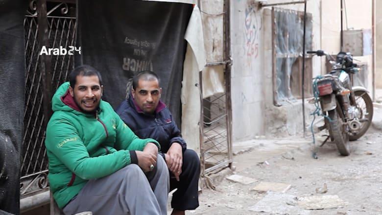 معاناة عائلة سورية نازحة من ذوي الإعاقة الجسدية في حلب