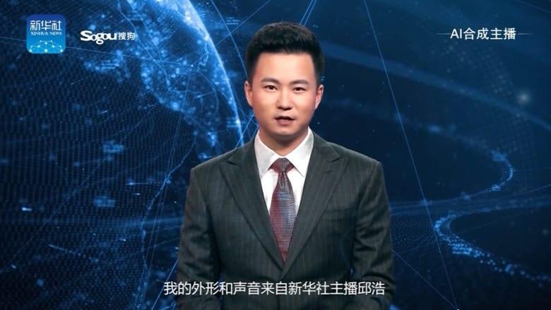 أول مذيع مصنوع بالذكاء الاصطناعي على الهواء مباشرة بالصين