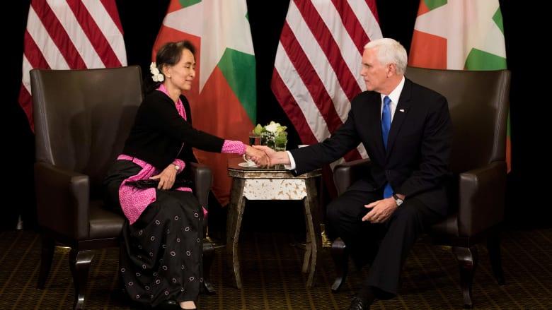 بنس لزعيمة ميانمار: العنف ضد الروهينغا غير مبرر