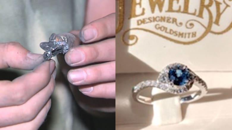 رجل يعثر على خاتم الخطوبة بين رماد منزل والديه