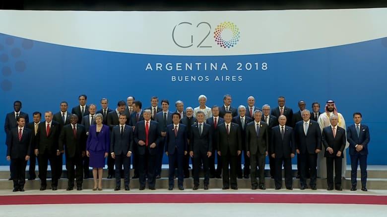 صورة تذكارية تجمع قادة قمة العشرين في الأرجنتين