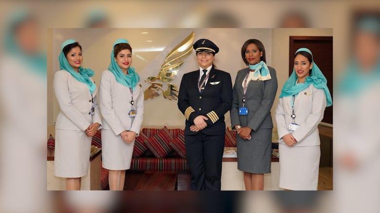 في يوم المرأة البحرينية.. طيران الخليج يستبدل طاقمه بالنساء