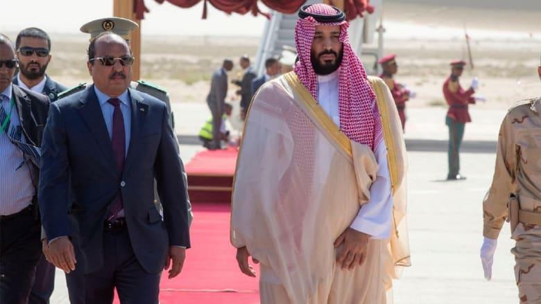 العساكر ينشر فيديو للحظة وصول محمد بن سلمان إلى موريتانيا