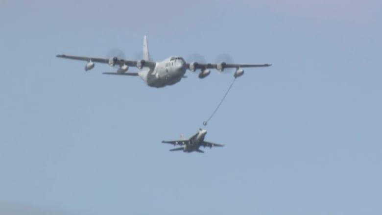 البحث عن مفقودين إثر اصطدام طائرتين عسكريتين أمريكيتين