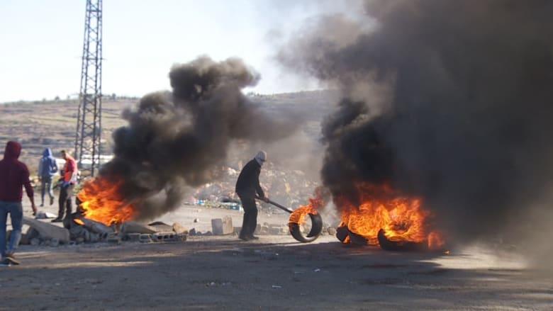اشتباكات في رام الله بين الفلسطينيين والجنود الإسرائيليين