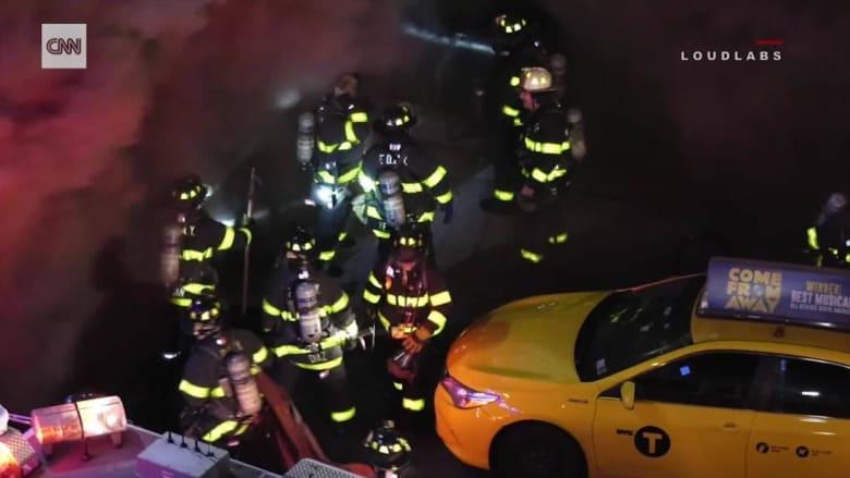ظاهرة مخيفة وقعت فجأة خلال محاولة إطفاء حريق في نيويورك