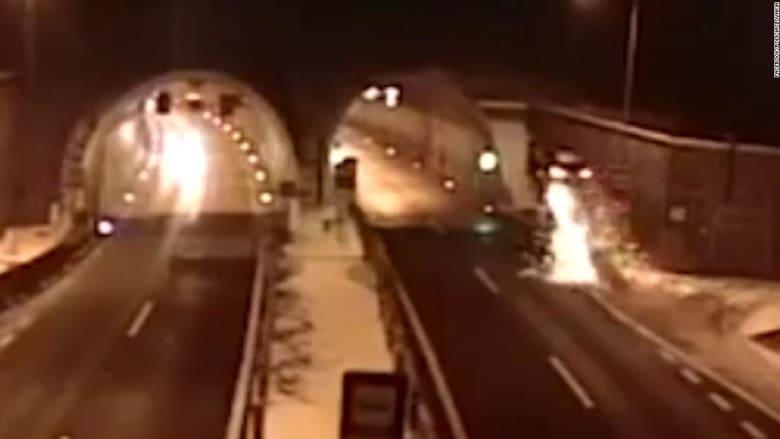 شاهد تحليق سيارة BMW بحادث غريب في سلوفاكيا