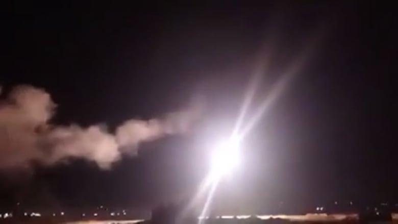 """سانا تنشر فيديو لتصدي دفاعات سوريا لـ""""صواريخ إسرائيلية"""""""