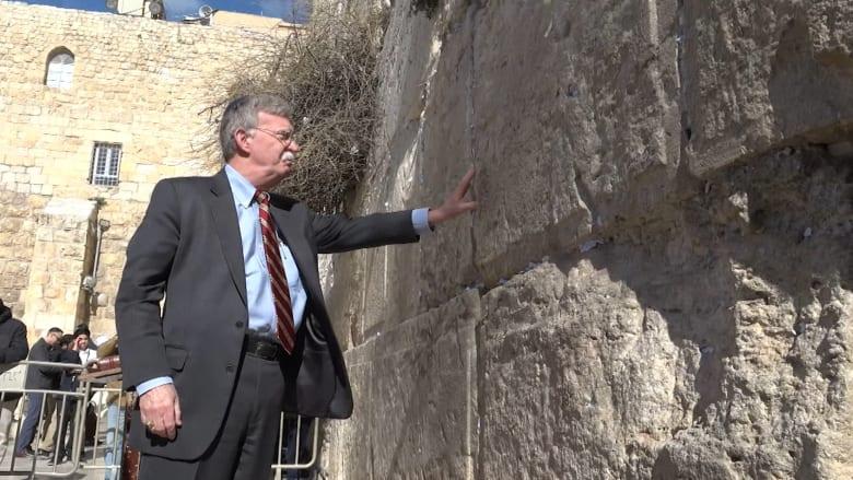"""مستشار الأمن القومي الأمريكي يزور """"الحائط الغربي"""" في القدس"""